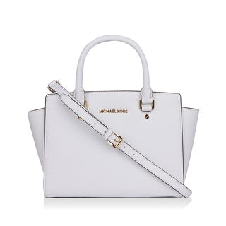 Michael Kors Selma Medium Optic White Satchel Handbag