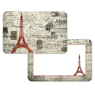 Counterart Reversible Plastic Wipe Clean Placemats - Eiffel Tower Vintage Paris (Set of 4)