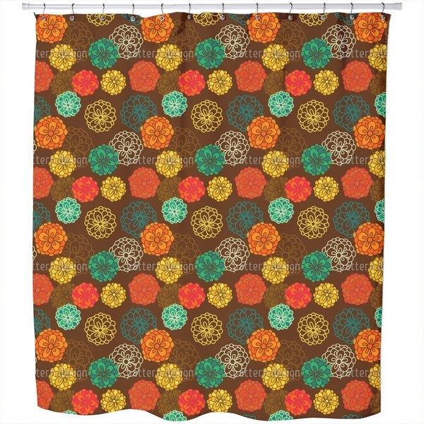 Zinnia Boheme Shower Curtain
