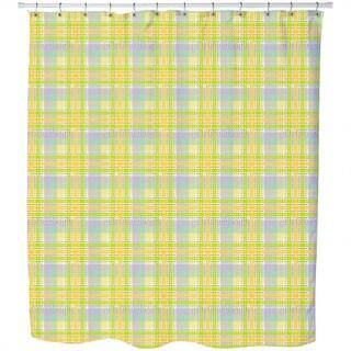 Yellow Tartan Shower Curtain