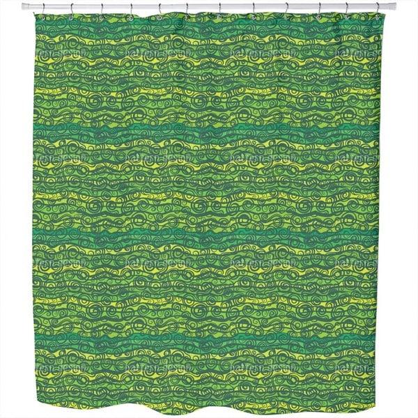 Vortex Dispute in The Pond Shower Curtain