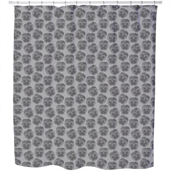 Violetta Graphite Shower Curtain