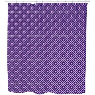 Violet Dots Shower Curtain