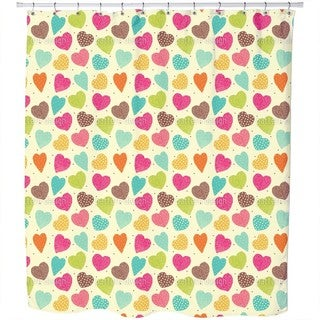 Vintage Heart Shower Curtain