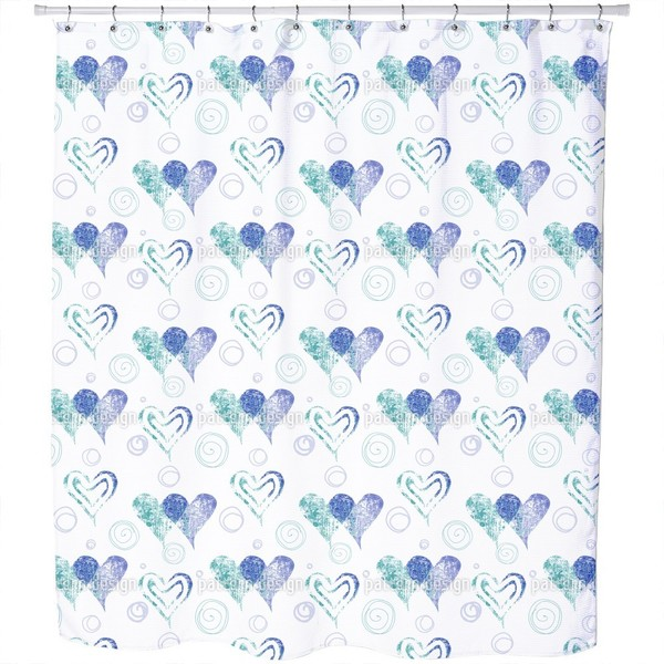 Twin Hearts Shower Curtain