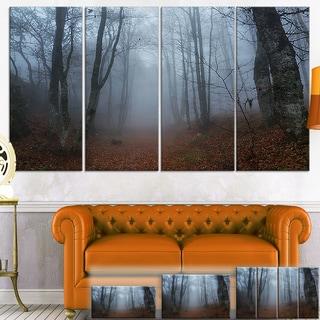 Designart 'Autumn Rainy Forest in Crimea' Landscape Photo Canvas Wall Art