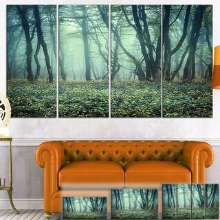 Designart 'Trail Through Foggy Forest' Landscape Photo Canvas Art Print