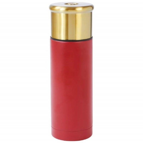 Classic Safari Shotgun Shell Style 33.8-ounce (1L) Stainless Steel Vacuum Bottle