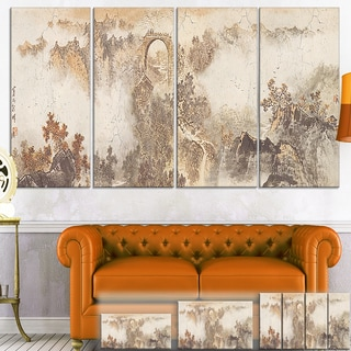 Designart 'Nature in Vintage Style' Landscape Photo Canvas Wall Art