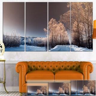 Designart 'Futuristic Winter Sky' Landscape Photo Canvas Wall Art