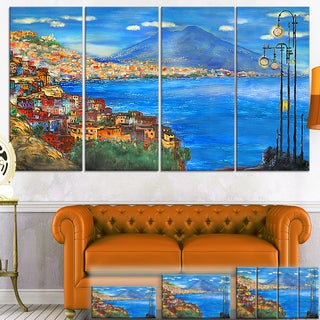 Designart 'Saturday Night Sea' Landscape Painting Canvas Wall Art