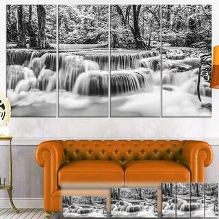 Designart 'White Erawan Waterfall' Landscape Photo Canvas Wall Art