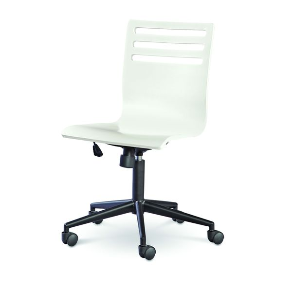 SmartStuff Classics 4.0 Swivel Desk Chair in Summer White