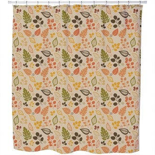 To Decide For Leaves Shower Curtain