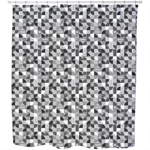 Tile Fragments Shower Curtain