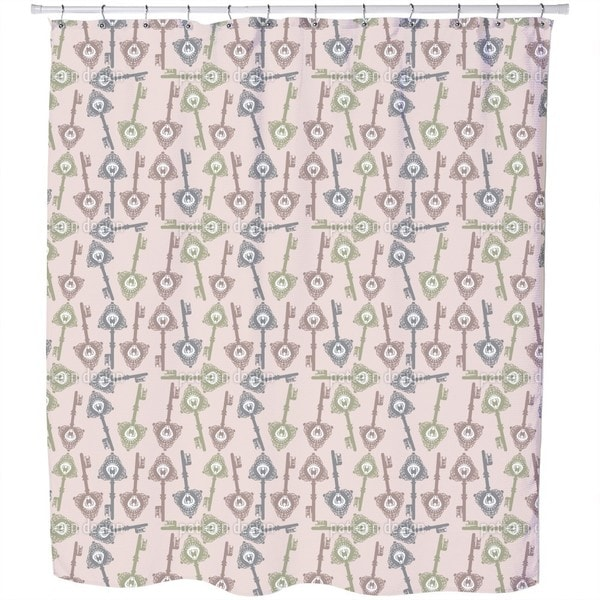 The Keys To Fairytale Kingdom Shower Curtain
