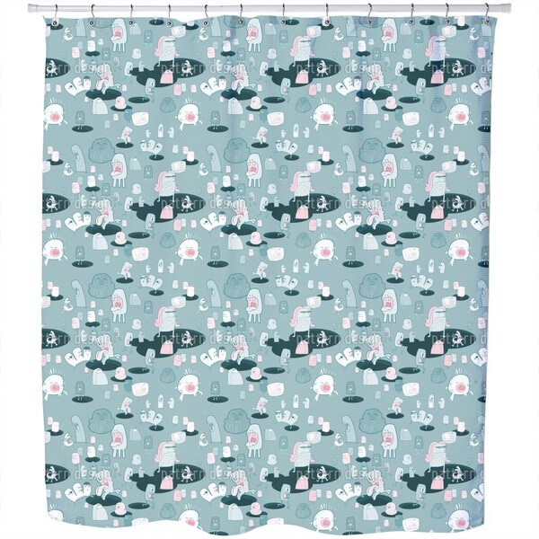 The Monster Come Shower Curtain