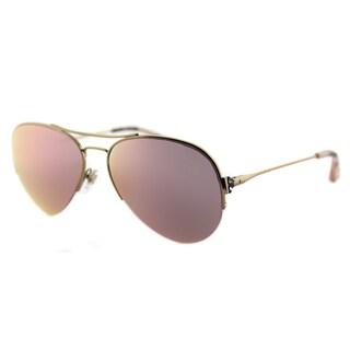 Tory Burch TY 6038 30576G Rose Gold Mirror Lens Classic Aviator Sunglasses