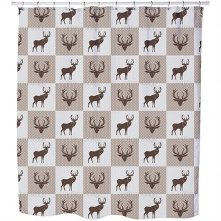 The Forest King Brown Shower Curtain