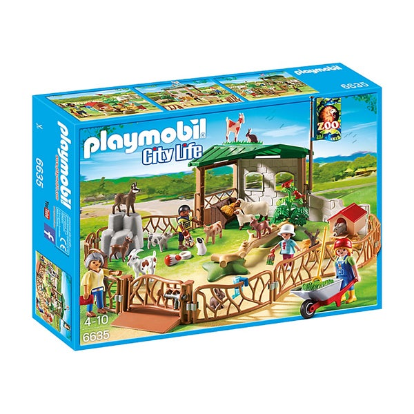 Playmobil Children's Petting Zoo Building Kit
