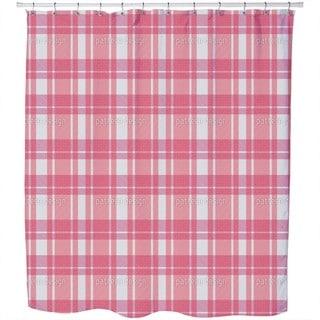 Tartan Pink Shower Curtain