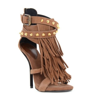 Giuseppe Zanotti Brown Suede Heel Sandals