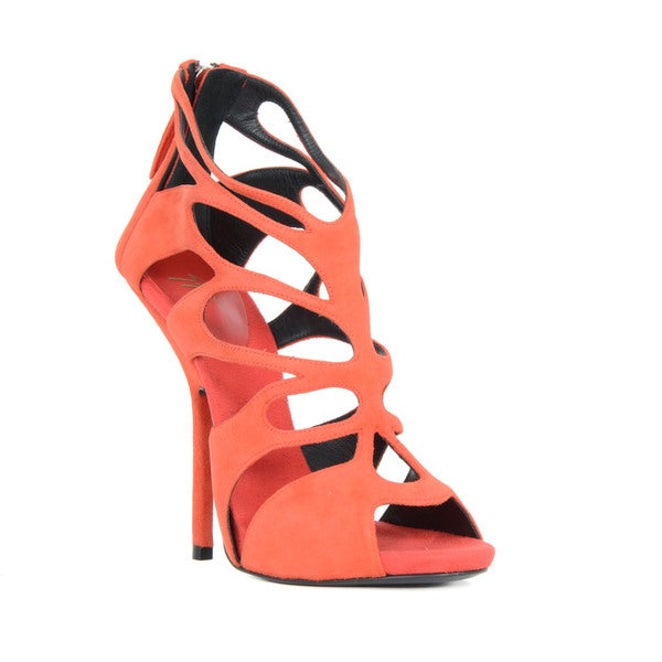 Giuseppe Zanotti Red Patent Leather Cut-out Heel Sandals
