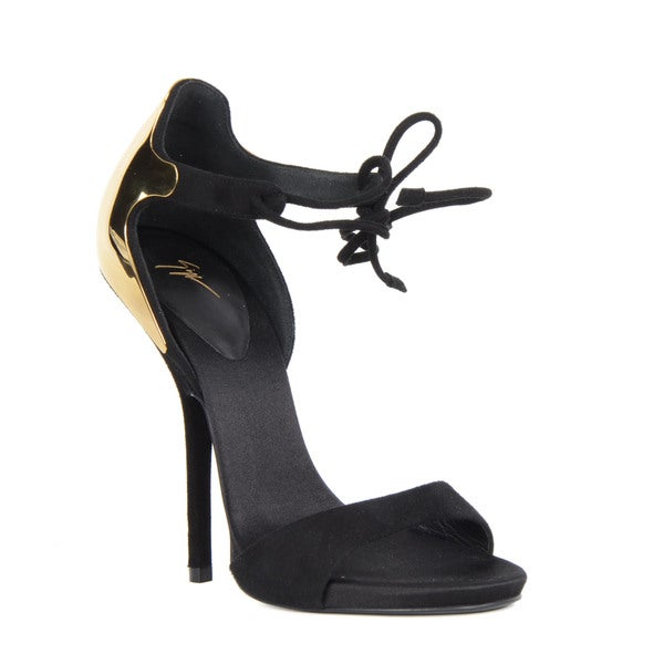 Giuseppe Zanotti Heel Sandals with Gold Accent
