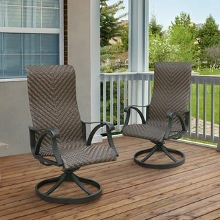 Furniture of America Camille Outdoor Wicker Rocking Chair (Set of 2)