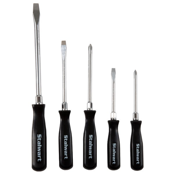 Stalwart 5-piece Screwdriver Set with Storage Pouch - Slotted & Phillips