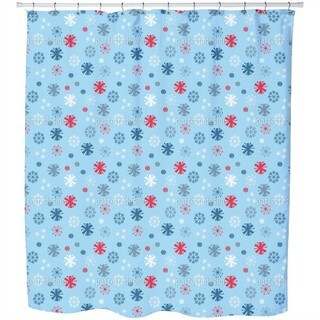 Snowflake Blues Shower Curtain