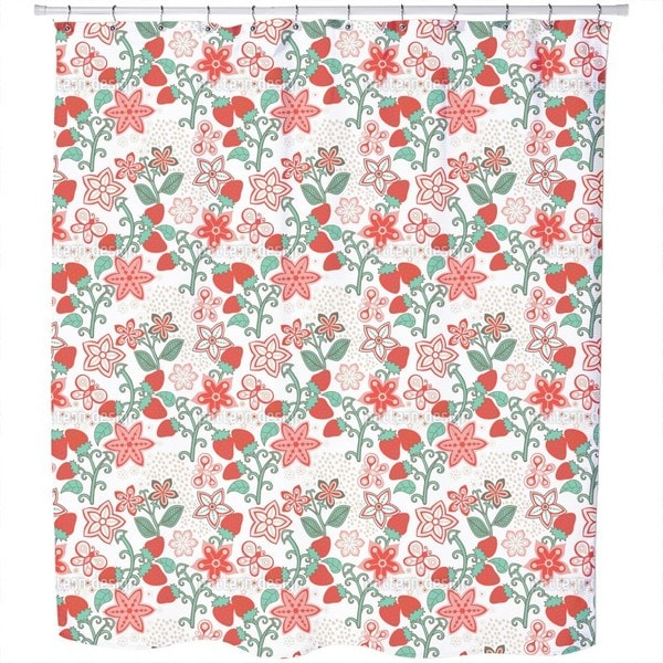 Sweet Strawberry Paradise Shower Curtain