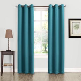 Sun Zero Talisha Grommet Room Darkening Window Curtain Panel