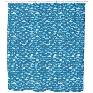 Swarms of Fish Crossover Shower Curtain
