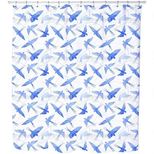 Swallows Flight Shower Curtain