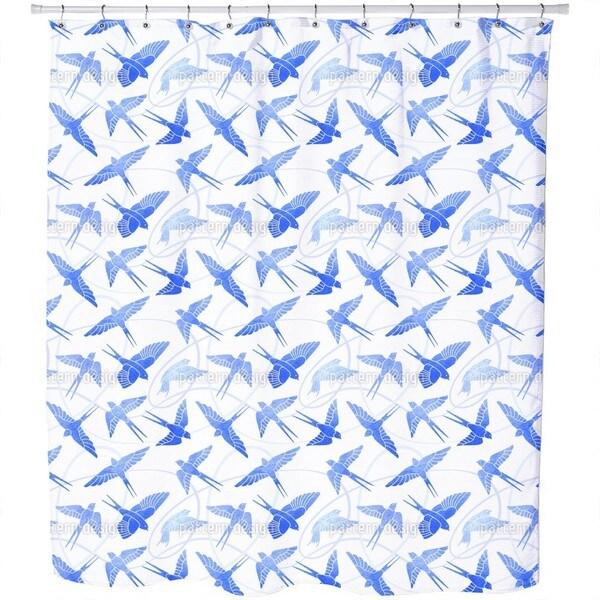 Swallows Flight Shower Curtain