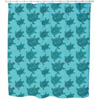 Polynesian Sea Turtles Shower Curtain