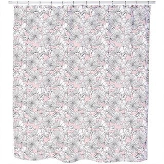 Scrapbook Hibiscus Shower Curtain