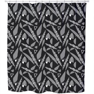 Stripe Fantasy Leaves Shower Curtain