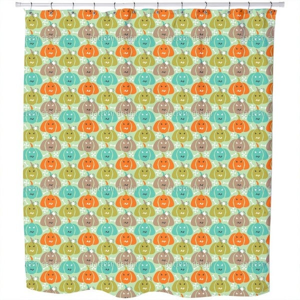 Scary Pumpkins Shower Curtain