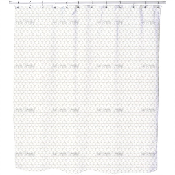 Scale Skin White Shower Curtain