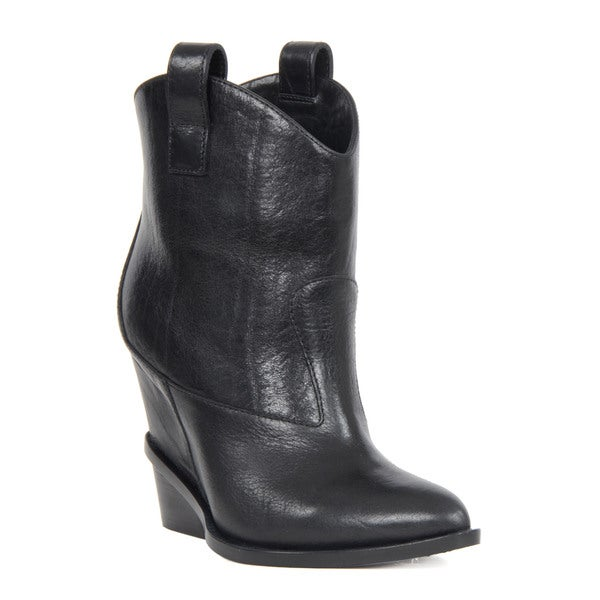 Giuseppe Zanotti Black Leather Pointed Toe Boots