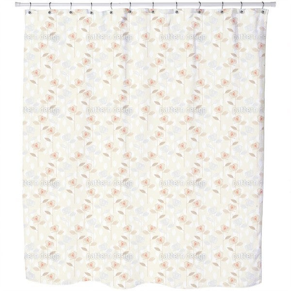 Rose Garden of The Fifties Shower Curtain