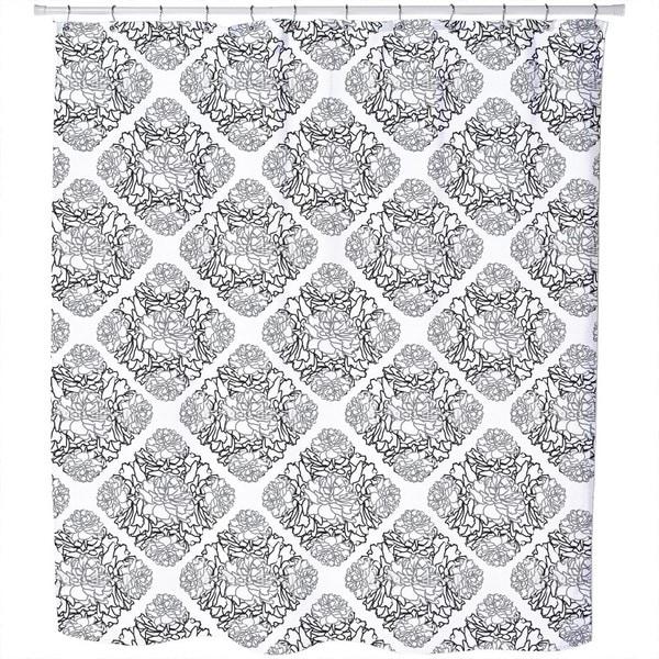 Rose Dream Black White Shower Curtain