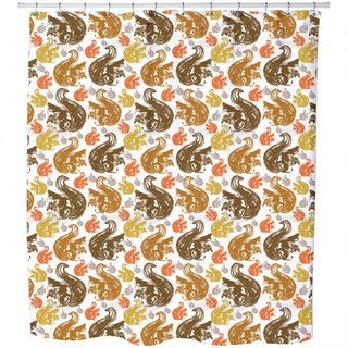 Squirrel Get Together Shower Curtain