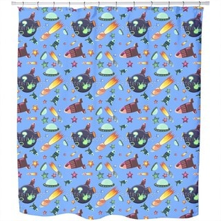 Space Travelers Shower Curtain