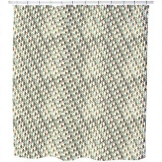 Retro Rhombus Shower Curtain