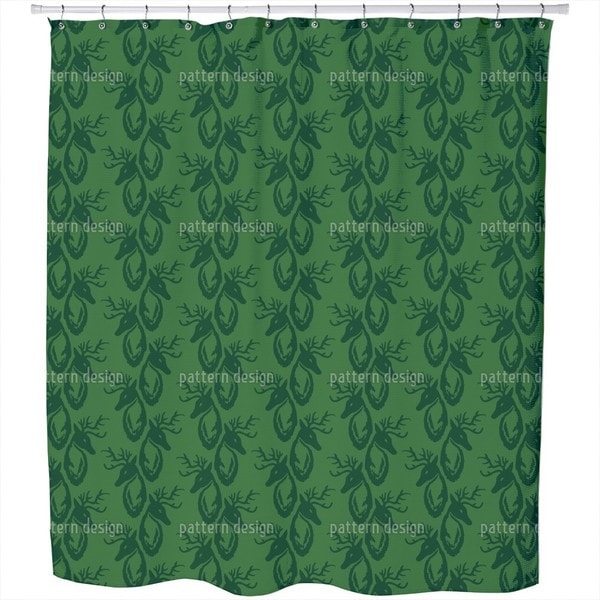 Green Stag Shower Curtain