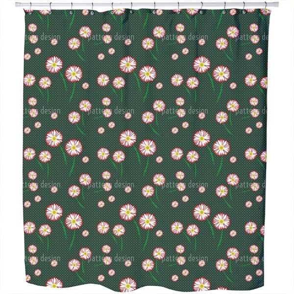 Gerbera Blossoms Shower Curtain