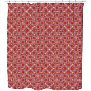 Geometric Orient Shower Curtain